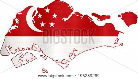 flag map singapore illustration country  nation  design