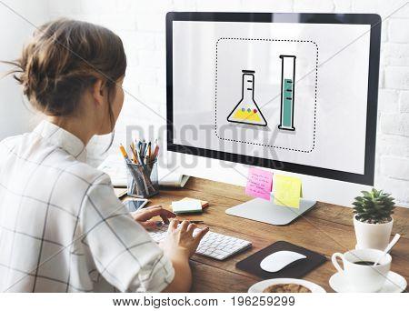 Scientific experiment laboratory study research