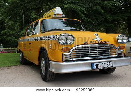 An image of a vintage, american taxi - Bad Pyrmont/Germany - 07/08/2017