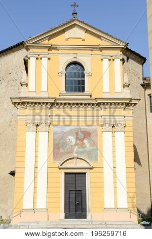 The Church Of Saint Maurizio At Bioggio