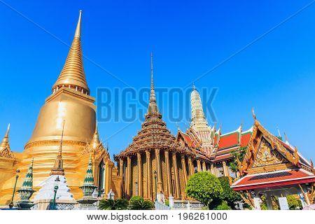 Thailand Bangkok. Wat Phra Kaeo. Thailand's holiest temple.