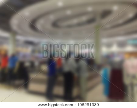 Abstract blur background of Department store for design backdrop to Presentation or business promotion.