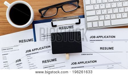 Job Search With Blank Sign