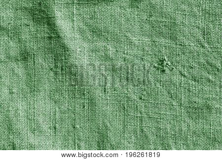 Green Color Hessian Sack Cloth Pattern.