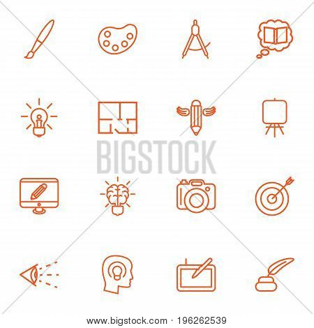 Set Of 16 Constructive Outline Icons Set