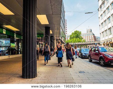 Tourists Visiting Hamburg Hdr