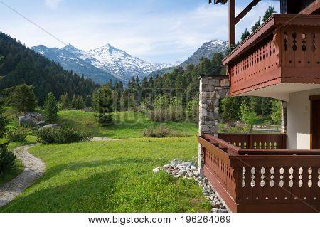 The famous ski resort Meribel during summer