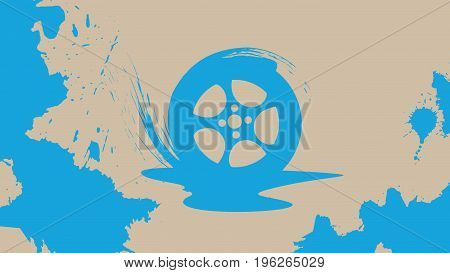 Abstract Car Wheel Background. Agriculture And Farming. Agrotourism. Agribusiness. Design Elements F