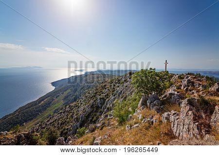 Beautiful View From The Top Of Sveti Nikola Mount.