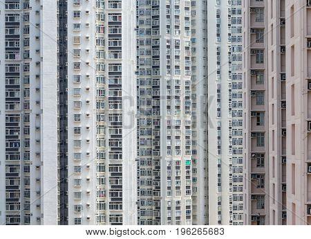 Facade of building in hong Kong