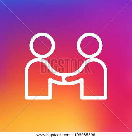Isolated Meeting Outline Symbol On Clean Background