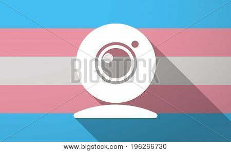 Long Shadow  Trans Gender Flag With A Web Cam
