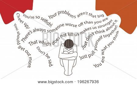 Worst things to say to a man in depression