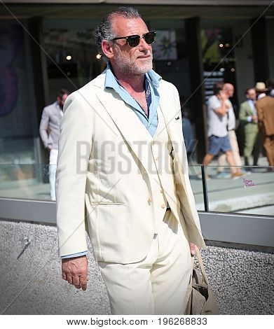 FLORENCE- 13 June 2017 Alessandro Squarzi on the street during the Pitti