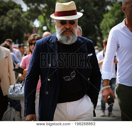 FLORENCE- 13 June 2017 Gianni Fontana on the street during the Pitti