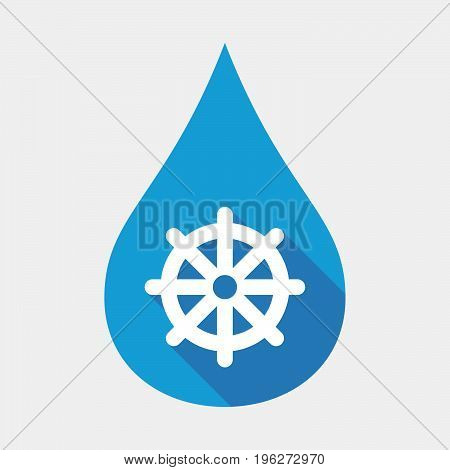 Isolated Water Drop With A Dharma Chakra Sign