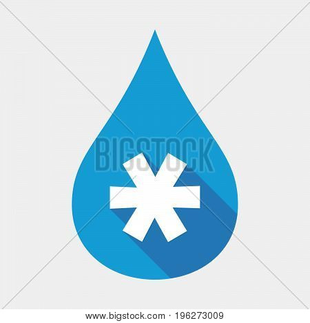 Isolated Water Drop With An Asterisk