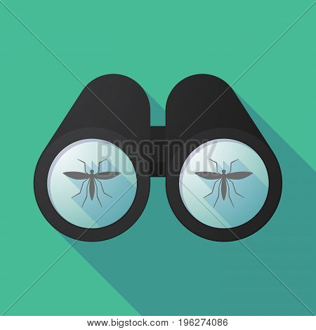 Long Shadow Binoculars With  A Mosquito
