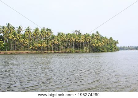 Tropical river at sunny day in south country