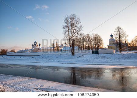 Tikhvin Assumption Monastery In Winter