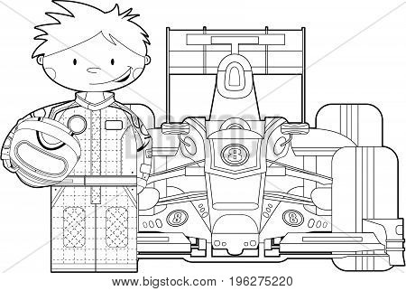 Colour In Racing Driver & Car