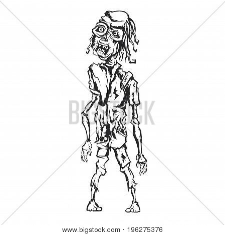 Alive zombie creepy illustration design character design