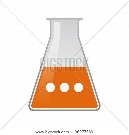 Isolated Chemical Flask With  An Ellipsis Orthographic Sign