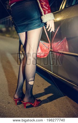 Prostitution By Night, Color Image, Hvertical Image