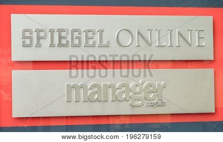 HAMBURG , GERMANY - JULY 14, 2017: Der Spiegel magazine of headquarter in Hamburg is located close to the famous Speicherstadt