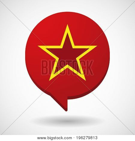 Isolated Comic Balloon With  The Red Star Of Communism Icon
