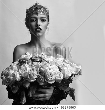 Princess Woman With Luxury Crown