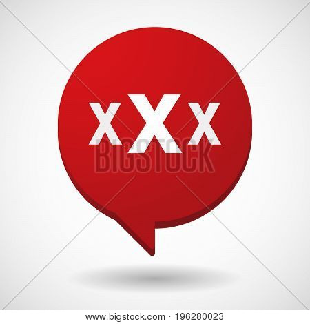 Isolated Comic Balloon With  A Xxx Letter Icon