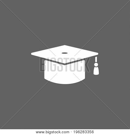 Isolated mortarboard icon on a dark background