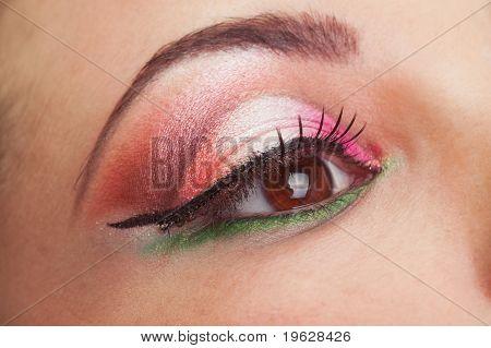 Fantastic make up girl eye