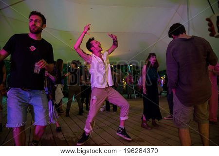 People Partying In A Tent