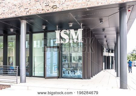 HAMBURG , GERMANY - JULY 14, 2017: The international school of management ISM is located close to the famous Speicherstadt