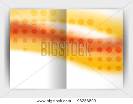Blur wave business print template, abstract background. Business flyer, report or magazine cover design