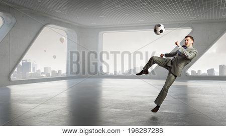 He is football fan