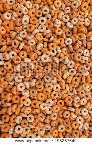 Healthy Multigrain Hoops Breakfast Cereal Background