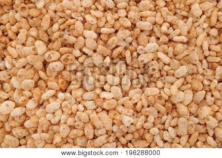 Crisped Puffed Rice Breakfast Cereal Background