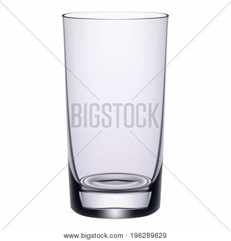 Long Drink Glass Isolated On A White Background. Vector Illustration.