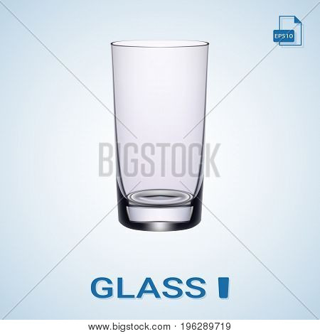 Long Drink Glass Isolated On A Background. Vector Illustration.