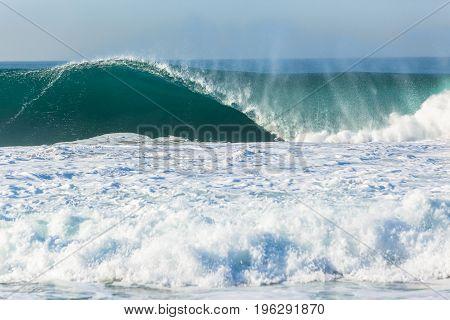 Wave Crashing Ocean Power