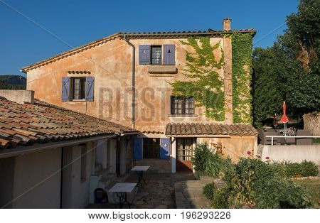 Typical provence village hotel (B&B). Provence. France