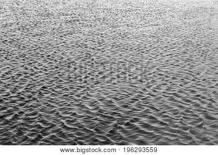 Water Ripples Black White