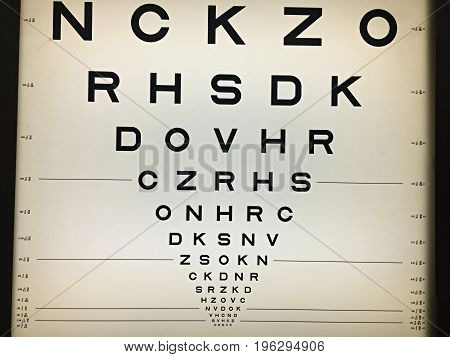 Optotypes for visual acuity. Ophthalmoly and optometry. Medicine