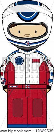 F1 Racing Driver In Helmet