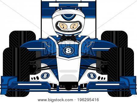 Blue F1 Car