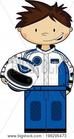 F1 Driver Holding Helmet