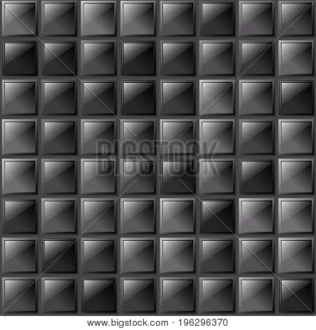 Checkers Metal Background Of Polished Glass Plates Of Different Shades. Production, Plant Or Factory